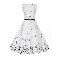 DongDong Big Promotion! Lady Dress Sleeveless Vintage Printi