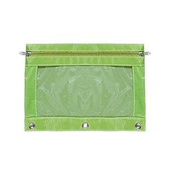 Binder Pencil Pouch with Zipper Pulls 3-Ring Clear Window Pe