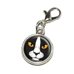 Graphics and More Black and White Cat Face Pet Kitty Antique
