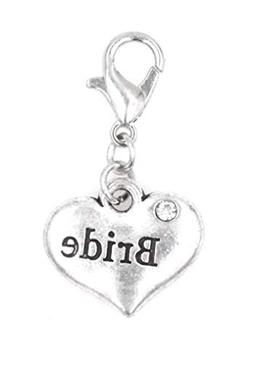 It's All About...You! Bride Clip on Charm Perfect for Neckla
