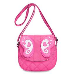 Zicac Butterfly Crossbody Bag Cute Purse with Zipper Pull Li