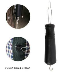 Button Hook and Zipper Pull Helping to Dress Plastic Handle