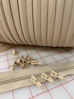 CANVAS #5 Upholstery Zippers By The Yard - 200 yds. & 200 pu