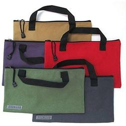 Canvas Tool Bags With Handles - 5 Pack Heavy Duty 20 Oz. Mul