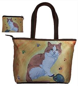 Cat Gift Set Shoulder Bag and Coin Purse- Yes, Salvador Real