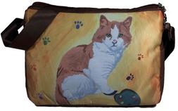 Cat Messenger Bag, Large - Yes,salvador Really Does Paint! -