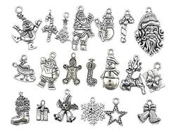 20pcs Christmas Alloy Charm Pendant for Xmas Decoration DIY