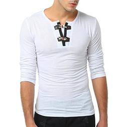 Clearance Sale! Wintialy Men's Autumn Pure Color Long Sleeve