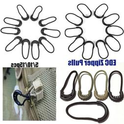 Clothing Zipper Pull Cord Rope Pullers Ends Lock Zips Zip Pu