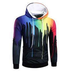 GOVOW Cotton Tops for Men on Clearance Long Sleeve Digital P