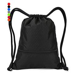 Double Sturdy Drawstring Bag With Pockets Waterproof | For G