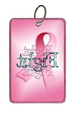 Extra Large Luggage Tag: Breast Cancer: Fight-Fight-Fight