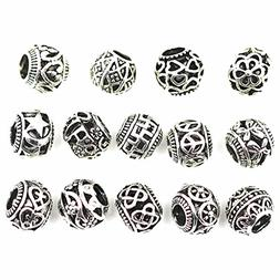 ALIMITOPIA 20pcs Filigree Bracelet Spacer Beads,Hollow Out B