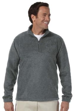 Harriton 8 oz. Fleece Quarter-Zip Fleece Pullover. M980 X-La