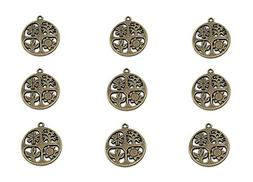 ALIMITOPIA 20pcs Four Seasons Symbol Hollow-Out Charm Pendan
