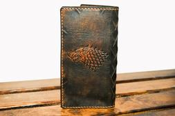 Game of Thrones Direwolf Magnetic Pull Up Wallet Handmade