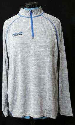 Top Of The World Gray US United States Air Force 1/4 Zip Pul