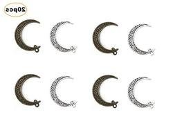 Kinteshun Hollow Moon Luna Crescent Symbol Filigree Charm Pe
