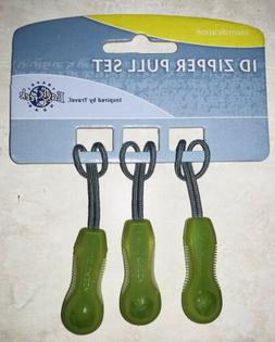 Eagle Creek ID Zipper Pull Set of 3 New on Package - Green