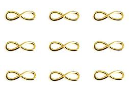 50pcs Infinity Symbol Connectors Charms Pendants for DIY Bra