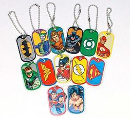 DC Comics Justice League Dog Tag Key Chains - Complete Set o