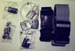 Key-less resettable Locks, Straps Zipper pulls..NEW IN PACKA