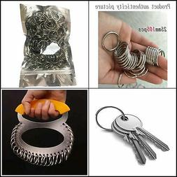 Key Rings Bulk , Nickel Plated Split Key Chain Ring Connecto