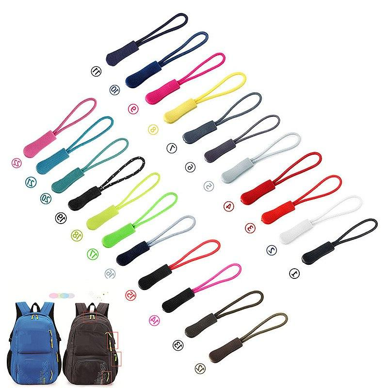 10pcs Color Bag Fit Rope Tag Fixer Zip Cord Tab Zip Puller DIY