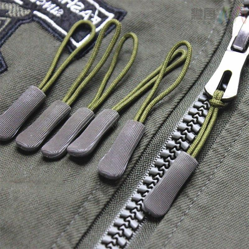 10pcs Color Bag Tactical Backpack Fit Fixer Zip Cord Zip DIY Head