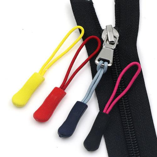 10pcs zipper pull slider cord rope puller