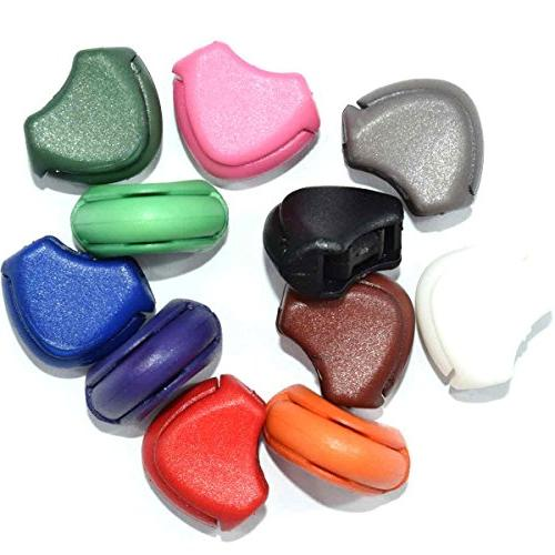 11pcs Colorful Plastic Zipper Pull Cord Ends Lock Stopper fo