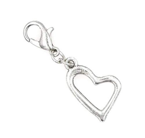 It's All About...You! Small Open Heart Stainless Steel Clasp