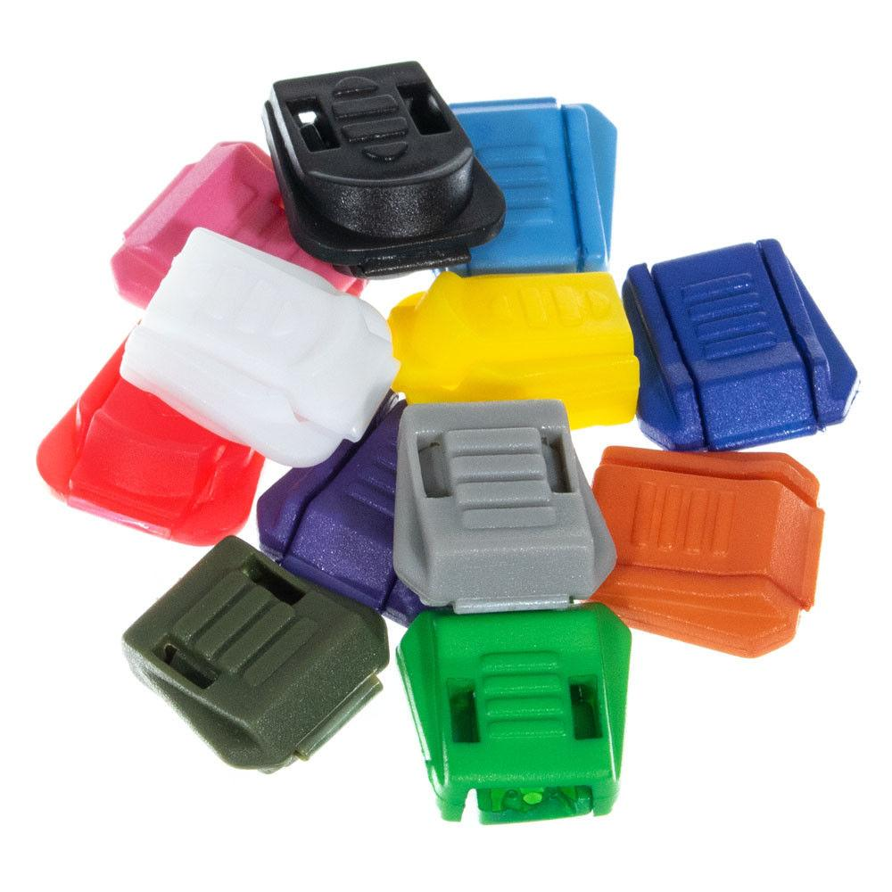 Lightweight Plastic Zipper Pull Tab Extensions Various Color