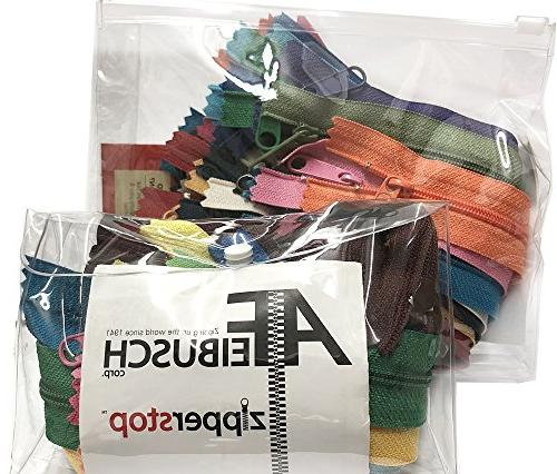Zipperstop Trends YKK #4.5 Pull Sewer Special - Made USA in Cord W/Piping Vinyl Bag