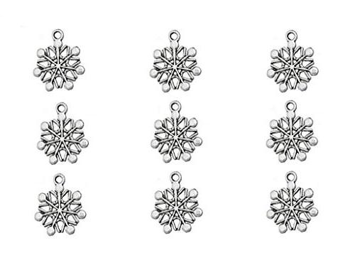 antique silver snowflake snow flower
