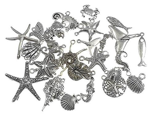 ALIMITOPIA Assorted Marine Animals Ocean Creatures Charms for