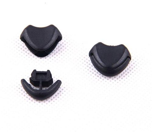 10pcs Black Plastic Zipper Pull Stopper for Paracord