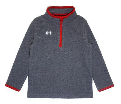 boys gray and red 3 4 zip
