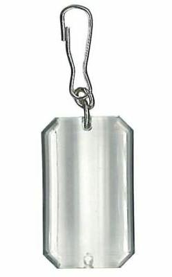 Clear Rectangle Zipper Pull