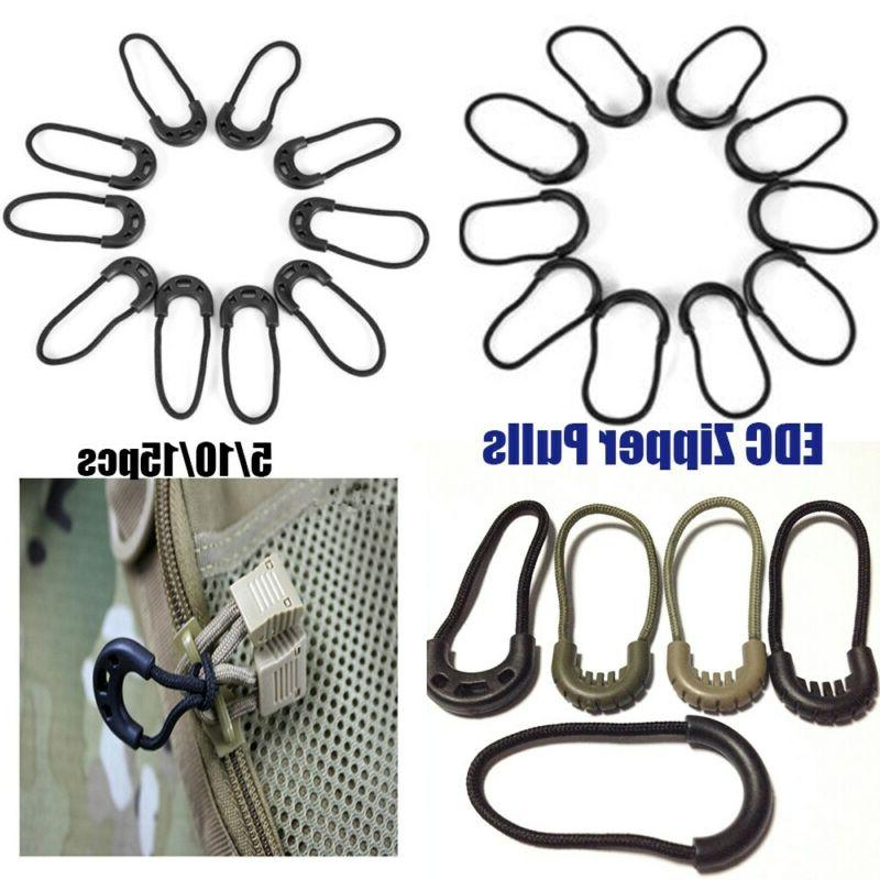 clothing zipper pull cord rope pullers ends