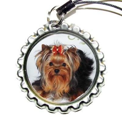 Cute Yorkie Bottle Cap Sports Bag Tag Luggage Id Pull Charm