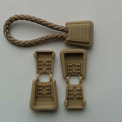 10 Beige Plastic Zipper Ends for or 1/8""
