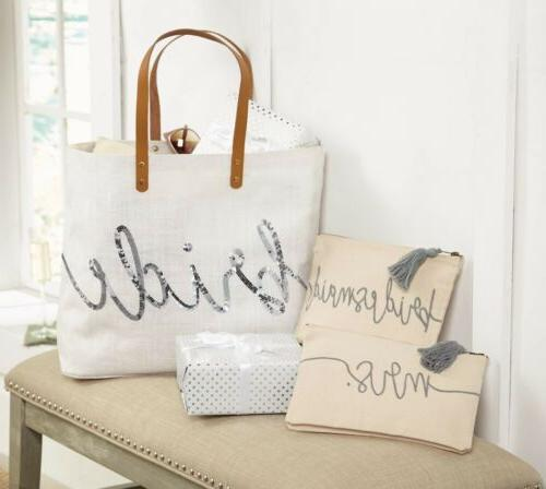 e8 wedding canvas bag pouch choose bridesmaid