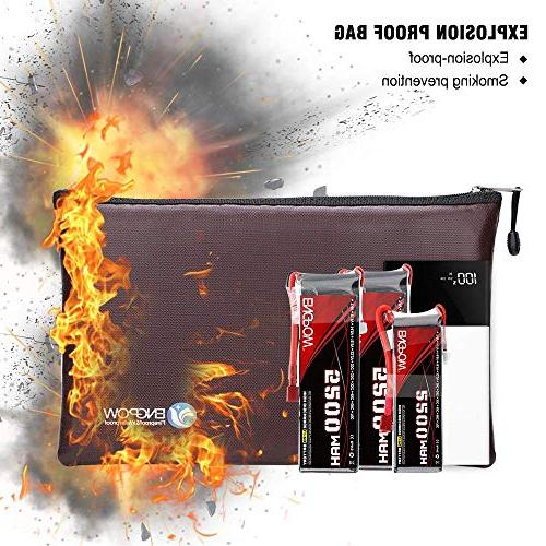 Fireproof A5 Document Portable Pouch Coated Fire Bank Deposit inches