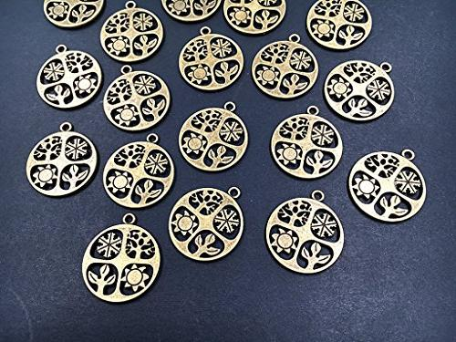 ALIMITOPIA 20pcs Symbol Charm for Jewelry Findings