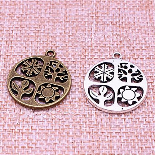 ALIMITOPIA 20pcs Symbol Hollow-Out for Necklace Jewelry Making