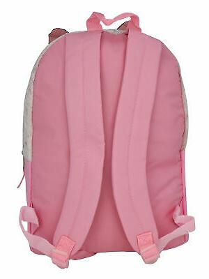 Girls Backpack Quilted Pom Pull