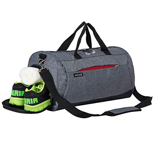 Kuston Sports Gym Bag with Shoes Compartment Travel Duffel Bag for Men/&Women