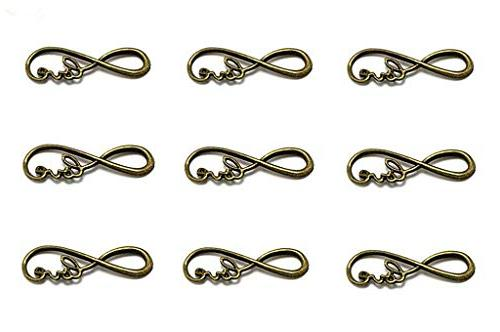infinity love symbol connectors charms