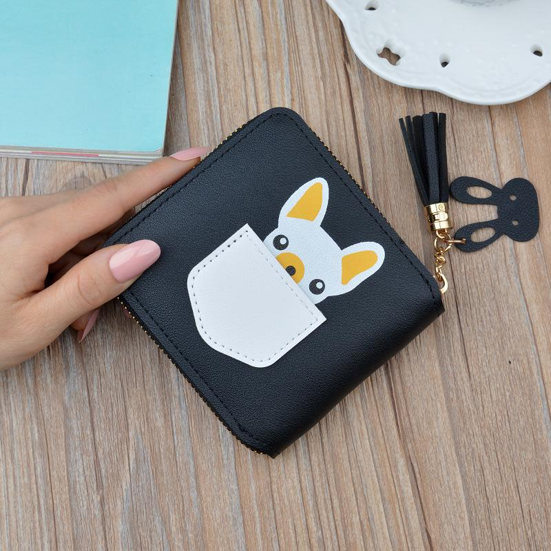 New <font><b>wallet</b></font> ladies cartoon purse student square